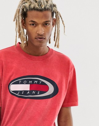 Tommy Jeans Summer Heritage Capsule t-shirt in red with large chest logo