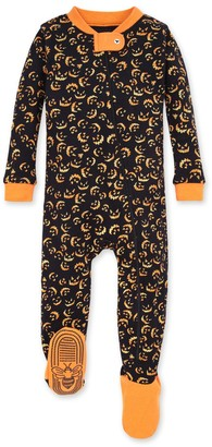 Burt's Bees Lanterns in the Dark Pumpkin Organic Baby Zip Up Footed Halloween Pajamas