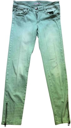 Bonpoint Turquoise Cotton Trousers for Women