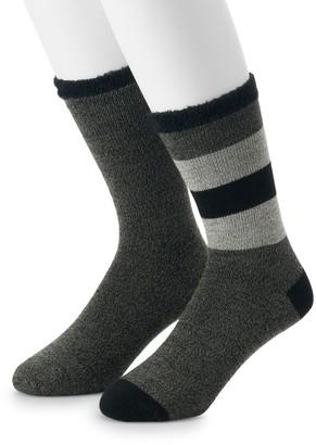Croft & Barrow Men's Marl Stripe Duo Layer Crew Socks