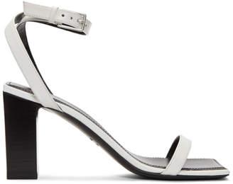 Balenciaga White Double Strap Square Sandals