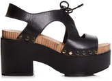 Balenciaga Cut-out vegetal-leather platform sandals