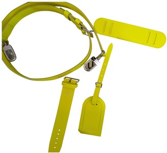 Louis Vuitton Yellow Leather Bag charms