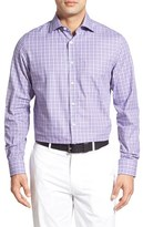 Bobby Jones Men's 'Dormie' Regular Fit Long Sleeve Plaid Sport Shirt
