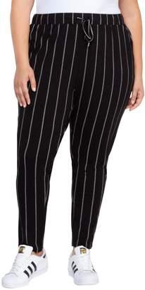 Dex Plus Striped High-Waist Pants