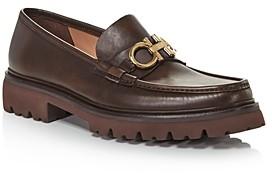 Salvatore Ferragamo Men's Bleecker Leather Moc Toe Loafers - Regular