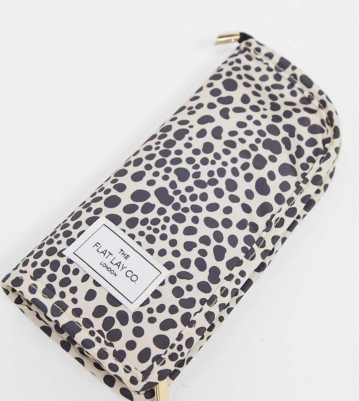 Flat Lay Company The Flat Lay Co. x ASOS Exclusive Standing Brush Case - Cheetah Print-No Color
