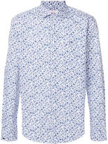 Sun 68 printed floral shirt