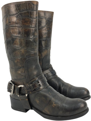 Christian Dior Green Leather Boots
