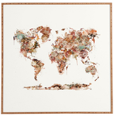 DENY Designs World Map Watercolor by Brian Buckley (Framed)