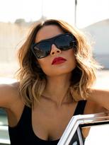 Quay x Desi Perkins On the Low Sunglasses in Black/Smoke as seen on Desi