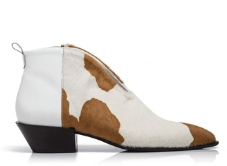 Rania Kroupi Centaur Brown & White Cow Booties