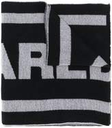 Dsquared2 logo knitted scarf