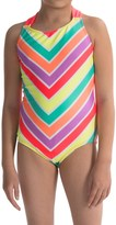 Freestyle Zazzle One-Piece Swimsuit - Fully Lined (For Little Girls)