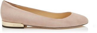Jimmy Choo JESSIE FLAT Ballet Pink Suede Round Toe Pumps