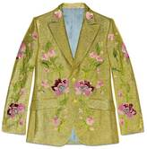 Gucci Floral embroidered lurex jacket