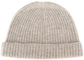 N.Peal cashmere ribbed hat