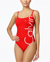 Calvin Klein Logo Classic One-Piece Swimsuit