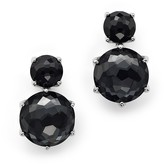 Ippolita Sterling Silver Rock Candy® 2 Stone Post Earrings in Black Onyx and Hematite