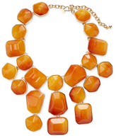 Kenneth Jay Lane Amber Nugget Drop Bib Necklace