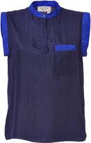 Lanvin Purple-Violet/Royal Silk Top