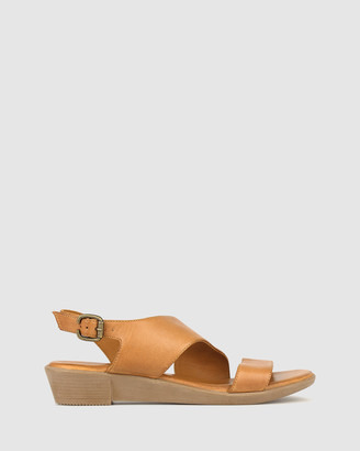 Airflex Women's Brown Wedge Sandals - Bingle Leather Wedge Sandals - Size One Size, 7 at The Iconic
