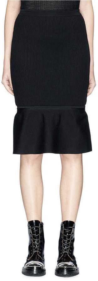 Alexander Wang Rib knit peplum skirt