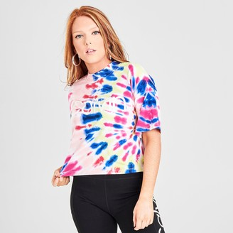 Calvin Klein Crop Tie-Dye Short-Sleeve T-Shirt