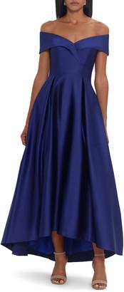 Xscape Evenings High Low Satin Dress