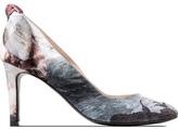 Carven Multicolor Escar Tal Noeud Printed Satin Heels