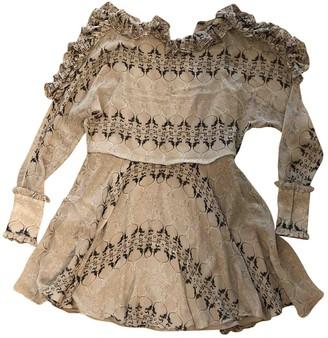 Thomas Wylde Pink Silk Dress for Women