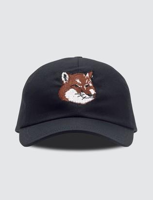 MAISON KITSUNÉ Large Fox Head Embroidery Cap
