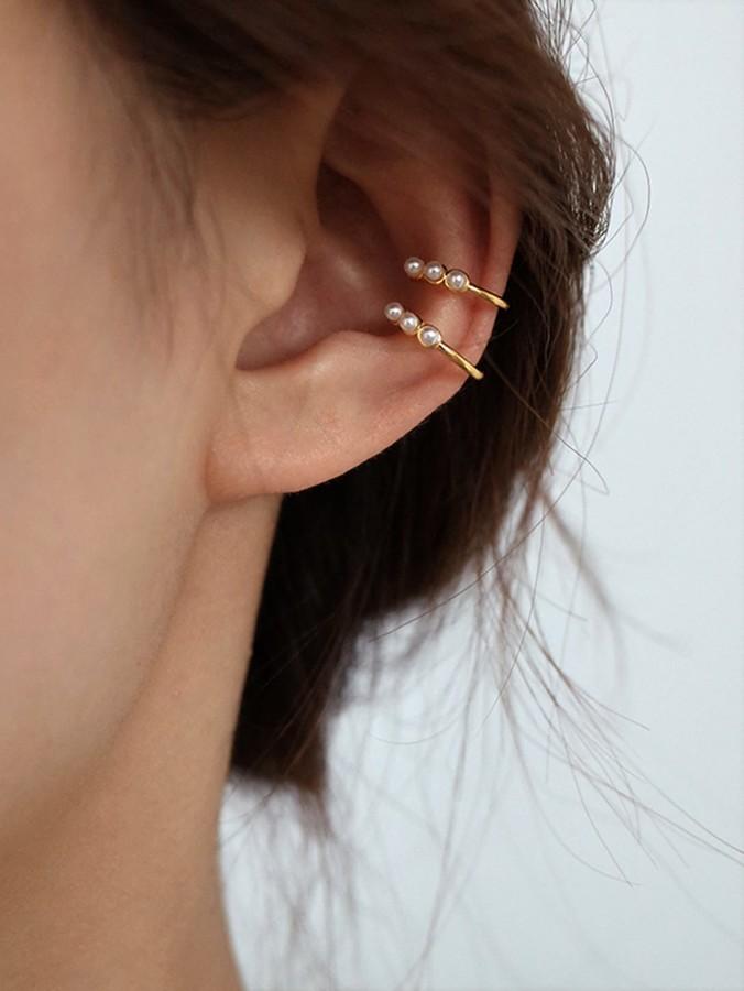 c36b603327 Faux Pearl Decor Ear Clip 2pcs