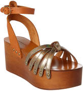 Isabel Marant Zia Leather Platform Wedge Sandal