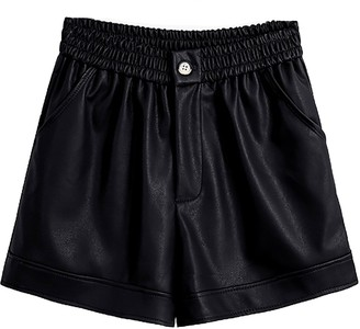 Goodnight Macaroon 'Janice' Faux Leather Button Shorts (5 Colors)