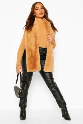 boohoo Faux Fur Oversized Scarf