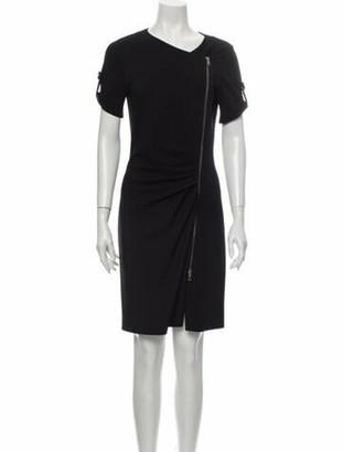Emilio Pucci Crew Neck Knee-Length Dress Black