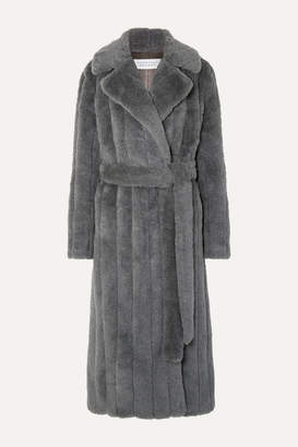 Gabriela Hearst Pavlovna Belted Wool, Silk And Cashmere-blend Coat - Dark gray
