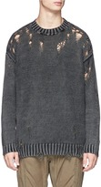 R 13 Distressed sweater