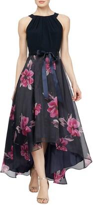 Slny Floral High/Low Skirt Maxi Dress