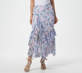 Vince Camuto Ruffle Charming Floral Skirt