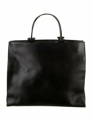 Gucci Vintage Leather Top Handle Tote Black