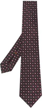 Ermenegildo Zegna Geometric Floral Print Necktie