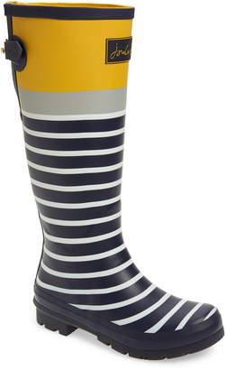 Joules Print Welly Waterproof Rain Boot