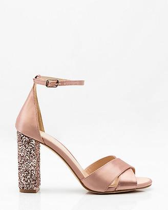 Le Château Glitter Block Heel Sandal