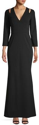 Calvin Klein Cutout V-Neck Gown