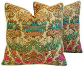 One Kings Lane Vintage Italian Embroidered Silk Pillows