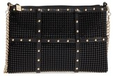 Whiting & Davis Studded Crossbody Clutch - Black