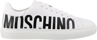 Moschino Logo Printed Lace-Up Sneakers