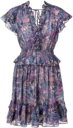 Rebecca Taylor floral flared mini dress